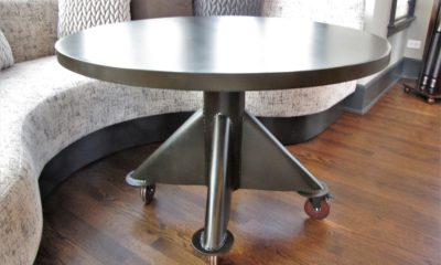 All metal coffee table - Rustic Elements Furniture