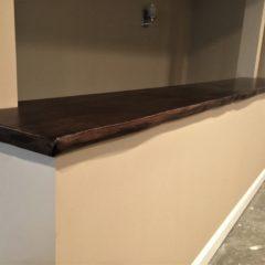 Dark Solid Wood Island Top - Rustic Elements Furniture