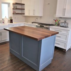 Solid Walnut Island Top - Rustic Elements Furniture