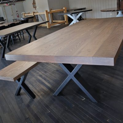 Rustic Elements Furniture - Metal X Base Table