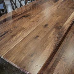 Rustic Elements Furniture Walnut Franklin Pedestal Table