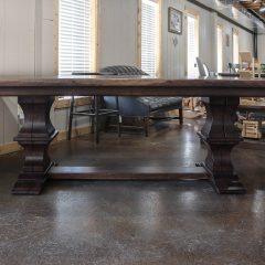 Rustic Elements Furniture - Walnut Franklin Pedestal Table & Bench
