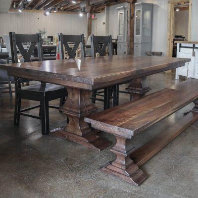 Rustic Elements Furniture - Walnut Timber Franklin Pedestal