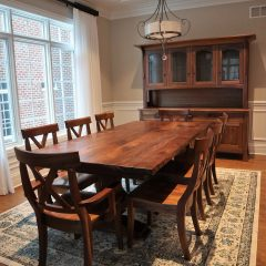 Rustic Elements Table with Custom (Amish) Hutch