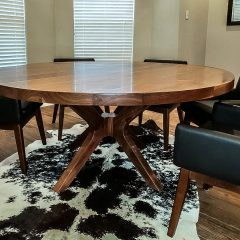 Our latest out-of-state delivery in Texas made from solid walnut.