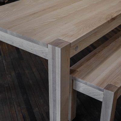Rustic Elements Furniture Flush-Leg White Cerused Table