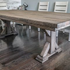 Rustic Elements Furniture Traditional Single Post Table