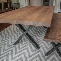 Rustic Elements Furniture Metal X-Base Table