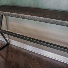 Rustic Elements Furniture Metal Base Console Table
