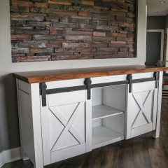 Rustic Elements Furniture - Xavier Barn Door Buffet