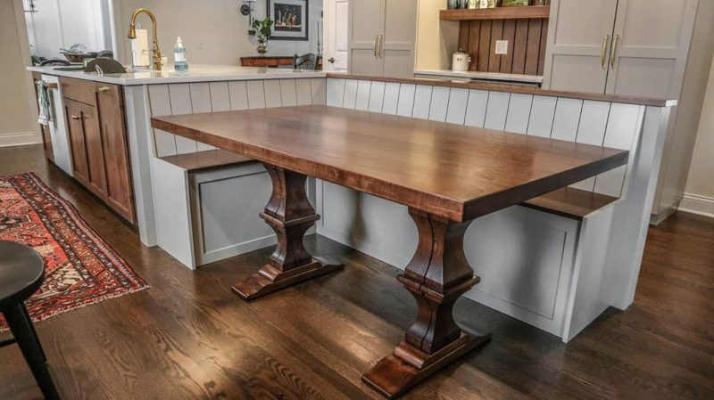Rustic Elements Furniture - Built-In with Table