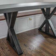 Rustic Elements Furniture - Single Post Pedestal Table