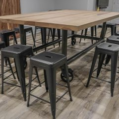 Rustic Elements Furniture - Custom Metal Base Table