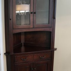 Rustic Elements Furniture - Corner Hutch