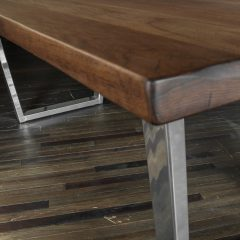Rustic Elements Furniture - Trapezoid Metal Pedestal Table