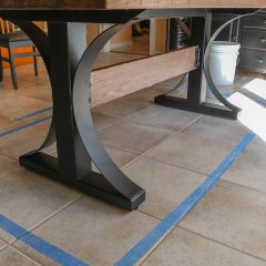 Rustic Elements Furniture - Metal Base Table
