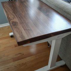 Rustic Elements Furniture - Walnut and Metal Desk