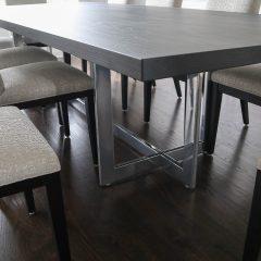Rustic Elements Furniture - Metal Reflection Pedestal