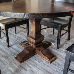 Rustic Elements Furniture - Round Anchor Pedestal with Feet