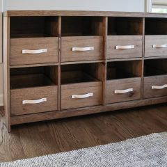 Rustic Elements Furniture - Custom Record Cabinet