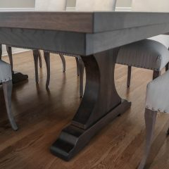 Rustic Elements Furniture - Craftsman Pedestal Table