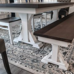 Rustic Elements Furniture - Traditional Single Post Table