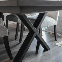 Rustic Elements Furniture - Metal X Table