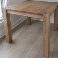 Gryn - Dana, Deerfield, 36x36x30 game table, Flush leg, 3.5 legs, 2.5 apron, standard top, ash, clean edge, min distress, Natural Earth, Flat