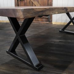 Rustic Elements Furniture - Bookmatched Walnut Slab Table