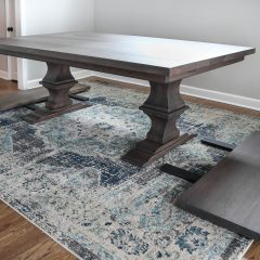 Schubert, Palatine, 50x84, Franklin, all hickory, thick top, no distress, clean edge, Walnut Gray, flat, 2-18 leaves