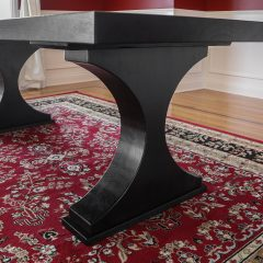 Rustic Elements Furniture - Crescent Pedestal Table