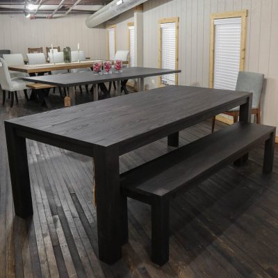 Rustic Elements Furniture - Ash Flush Leg Table