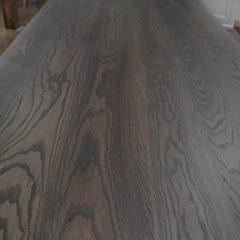 Rustic Elements Furniture - Ash Franklin Pedestal Table & Bench