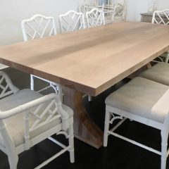 Rustic Elements Furniture - Crescent Pedestal table in Natural Earth