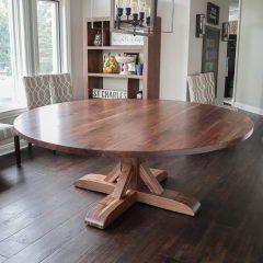 Rustic Elements Furniture - Round Tamara Pedestal Table