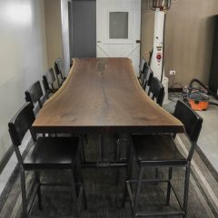 Rustic Elements Furniture - Custom Walnut Slab Table