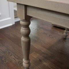 Rustic Elements Furniture - Turned Four-Leg Table