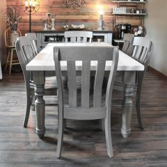 Rustic Elements Furniture - Custom Turned-Leg Table