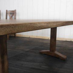 Rustic Elements Furniture - Wedgepost Pedestal Table