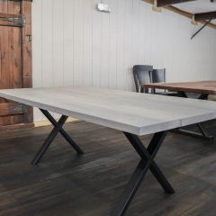Rustic Elements Furniture - Metal X Base with Fog Top