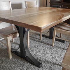 Rustic Elements Furniture - Metal Base Table