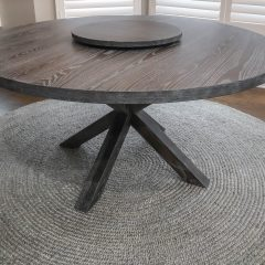 Round Double X-Base Table