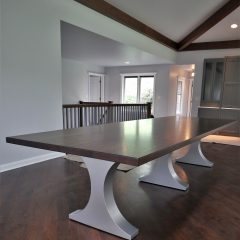 Crescent Metal Base Table