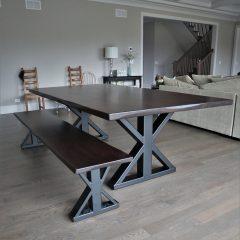Single Post Metal Base Table