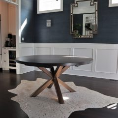 Round Double Metal-X Base Table