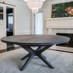 Round Brewer Pedestal Table