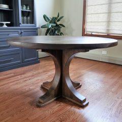 Round Crescent Pedestal Table