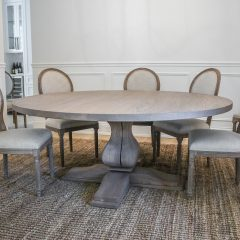 Round Belly Pedestal Table