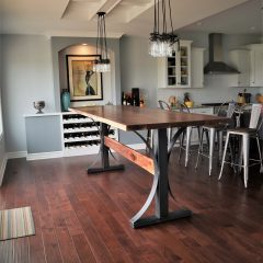 Arched Metal Base Table