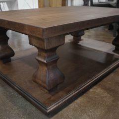 Rustic Elements Furniture - Platform Tuscan Pedestal Coffee Table
